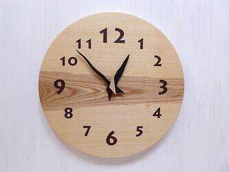 ホワイトアッシュの時計 34センチ 005s 文字盤茶色の画像