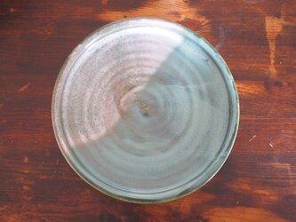 カレー皿 釉流れ(ホワイトグリーン)の画像
