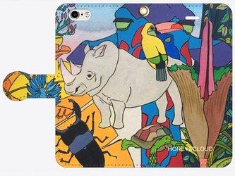 手帳型スマホケース 「サイ」 <受注製作>納期14日予定の画像