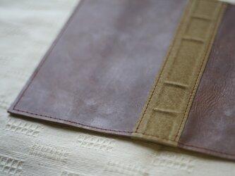 洋古書風のブック・ブックカバー/ブラウン×サンドブラウンの画像