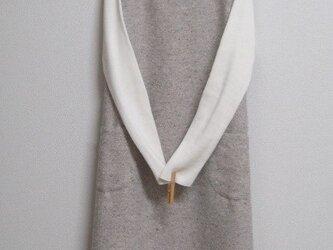 綿混の冬ジャンパースカート モカベージュの画像