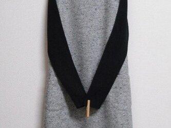 綿混の冬ジャンパースカート 灰色の画像