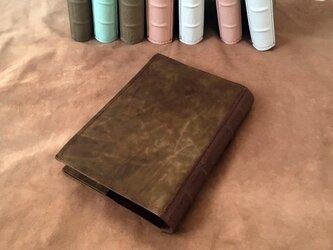 洋古書風のブック・ブックカバー/マットブラウン×チョコの画像