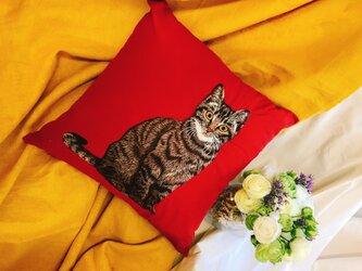 手刺繍 MPKクッションカバー(MEOCUSH101)の画像