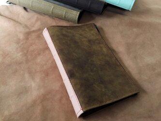 活字狂のための洋古書鞄/マットブラウン×アッシュピンクの画像