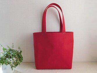 帆布トートバッグ 赤の画像