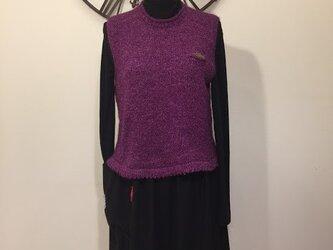 プルオーバーベスト(紫)の画像