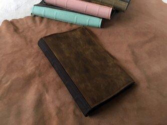 活字狂のための洋古書鞄/マットブラウン×チョコの画像