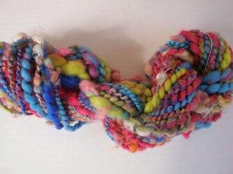 カラフル白ヒゲミックス糸の画像