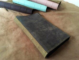 活字狂のための洋古書鞄/マットブラック×カーキグリーンの画像