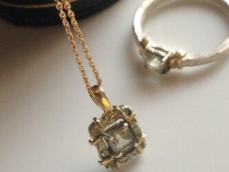スモーキートルマリンのsilver&goldネックレスの画像