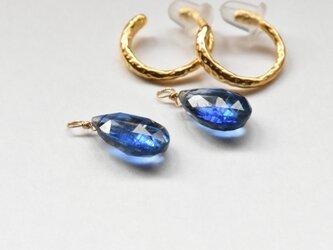 ☆[EC] Kyanite (Blue color) Ear Clipsの画像