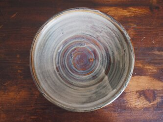 カレー皿 釉流れ(ホワイトブラウン)の画像