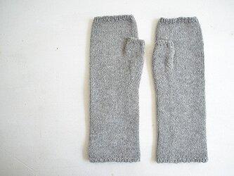 手編み カシミヤアームウォーマーの画像