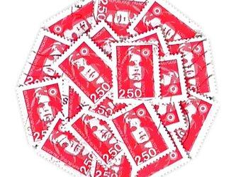 フランス古切手(赤B)France   DA-STE091の画像