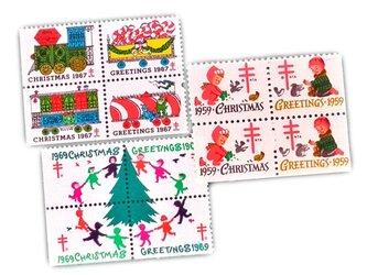 USA未使用クリスマスシール   DA-STE102の画像