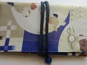 送料無料 子供の着物で作った和風財布・ポーチ 3009の画像
