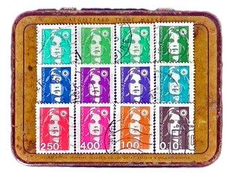 フランス古切手(12色)France   DA-STE098の画像