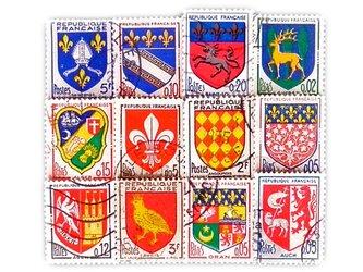 フランス古切手(紋章12)France   DA-STE093の画像