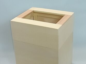 「青森ひばとけやき」  ごみ箱A型  /EA8[注文制作]の画像