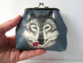 【受注販売】がま口/ キリっとしたオオカミのがま口の画像