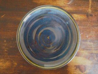 カレー皿 釉流れ(ブルーグリーン)の画像