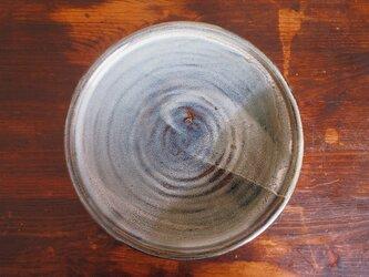 カレー皿 釉流れ(グリーンブラウン)の画像