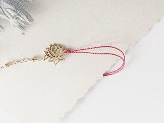 lotuscharm*redlinebraceletの画像
