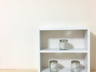 ミニラック 白 2段 サイズオーダーOKの画像