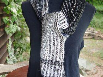 手織り モヘアのマフラー Aの画像
