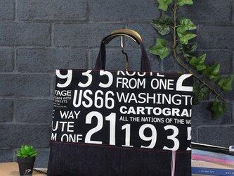 ハンサムBLACKのレッスンバッグの画像