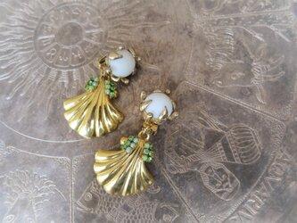 2ウェイイヤリング ゴールドシェル vintage gold shell <ER-shgld>の画像