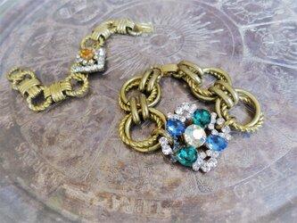 ヴィンテージビジューブレスレット vintage bijou bracelet <BL-RBblab>の画像