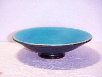 トルコブルーの爽やかな皿小鉢の画像
