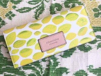 シチリア産レモン 牛革薄い長財布の画像