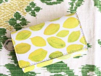シチリア産レモン カードも入るキーケースの画像