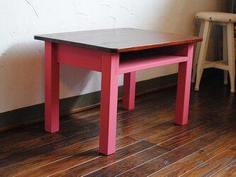 ★ローズピンクとチークカラー♪座卓ローテーブル☆テレビ台にも。の画像