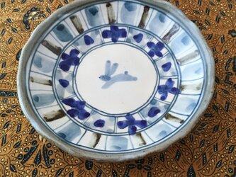 再出品 染め付け・うさぎの6寸深皿の画像