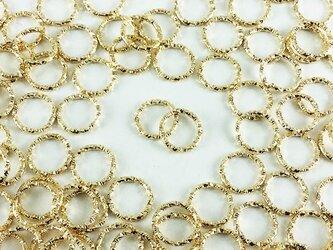 送料無料 デザイン 丸カン ゴールド 100個 12mm KC金 丸カン 丸環 チャーム ピアス イヤリング AP0337の画像