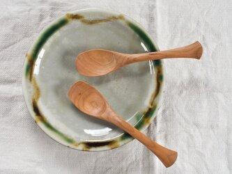 木のスプーン A型スプーン(チェリー材)の画像