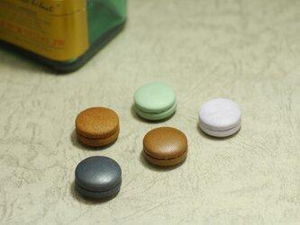 マカロンのようにかわいい革製マグネット【限定5種類から5つ選んで】の画像