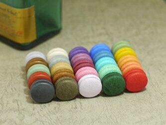 マカロンのようにカラフルでかわいい革製マグネット【25種類から4つ選んで】の画像
