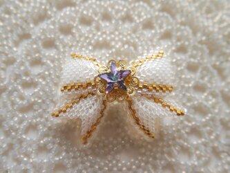 小さなリボン【淡い紫星】の画像