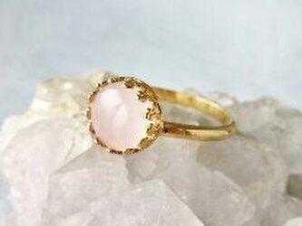 Rose quartz ringの画像