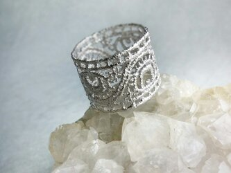peacock feathers ring (silver)の画像