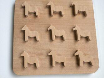 馬の鍋敷きの画像