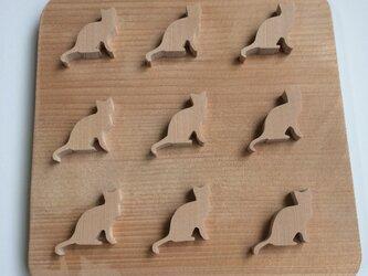 猫の鍋敷きの画像