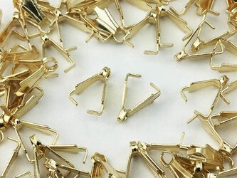 送料無料 バチカン ゴールド KC金 100個 8mm Aカン カン 付き デザインバチカン ネックレス 留め具 AP0377の画像