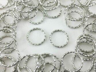 送料無料 デザイン 丸カン シルバー 100個 15mm 銀色 丸カン 丸環 チャーム レジン ピアス イヤリング AP0384の画像