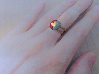 小円二色七宝金箔指輪の画像